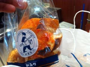 シチューの相棒はドンクのフランスパンです。また、別途おやつとして買った明太子フランスは10個も買ったのに、即売り切れでした。これ、毎週買いますか?