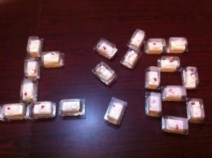 先ずはクリスマスと言えばケーキです。上海人が大好きな紅宝石のケーキ6.9元