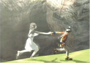 ICO:手を繋いでヒロインをゴールに連れて行くアクションゲーム。(中国語版があります。)
