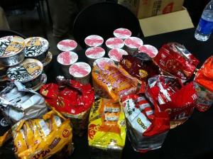 ラーメン即売会:麺皇主催、超安値原価割れラーメン即売会が行われました。1分と持たず完売。