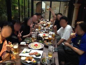 Tsubasa会:叫ぶ(酒部)によるTsubasa君を送る会です。といっても2ヶ月半経つと、また戻って来るんですが・・・。