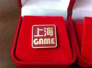 ブログの掲載を頑張ってくれてきたエヴァンジェリストの方々に、上海ゲーム部エンブレムバッジを作りました。