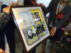 ORUMA氏を送るため、上海ゲーム部の4名のお絵かき名人がそれぞれエンブレムを模して絵を描きました。