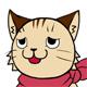 猫表情 しかめつら