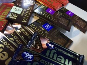 チョコフォンデュ:皆様の寄付によりいっぱい集まったチョコ。