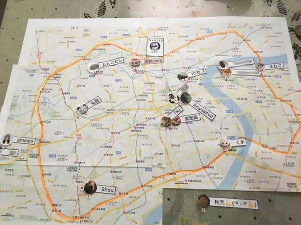 現在位置の地図がリアルタイムで更新(ガチ)